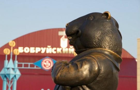 Памятник Бобру в городе Бобруйске